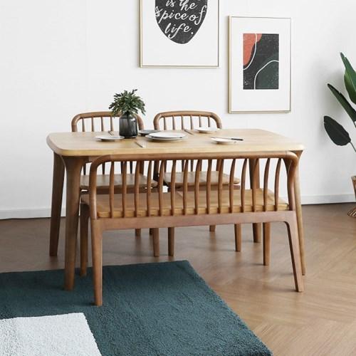 [마들렌] A형 4인용식탁/테이블 세트 투톤컬러_(1405046)