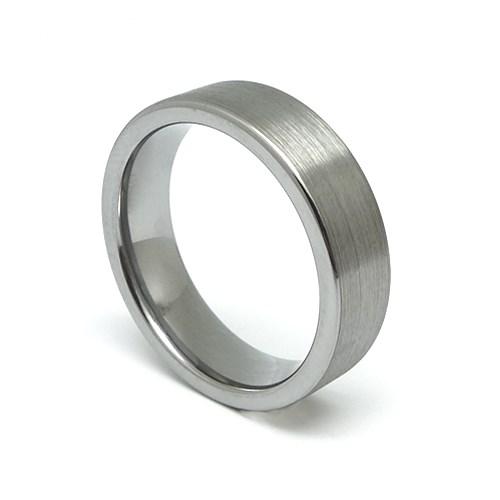 프리미엄 텅스텐 플랫 반지 [6mm]