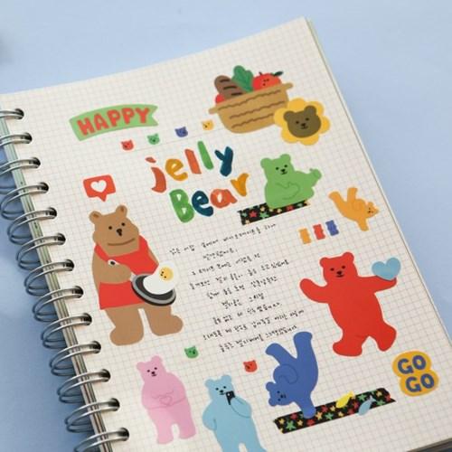 스티커팩 - 01 Jelly Bear