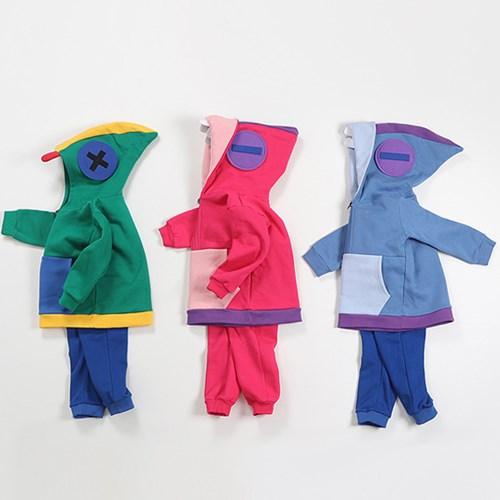 빛) 브롤 기모 하프 후드집업 상하세트 /초등학생 옷