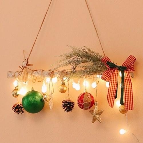 베르멜 1단 행잉가랜드 앵두전구 향기나는 크리스마스 벽트리 장식