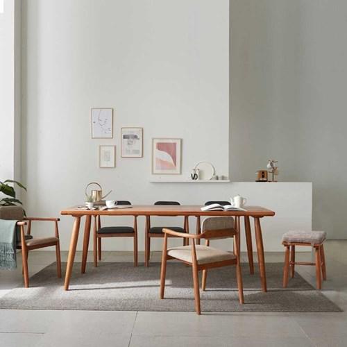 리치 6/8인용 원목 식탁테이블 2000세트 (의자3개, 스툴3개포함)