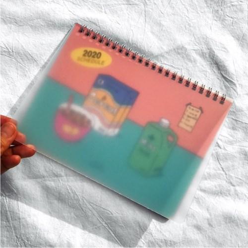 [2020 날짜형] 콤마비 월간 스케쥴러 핸디형