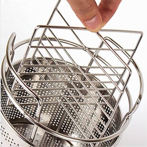 데코 갤러리 거치형 스텐 원형 수저통-대