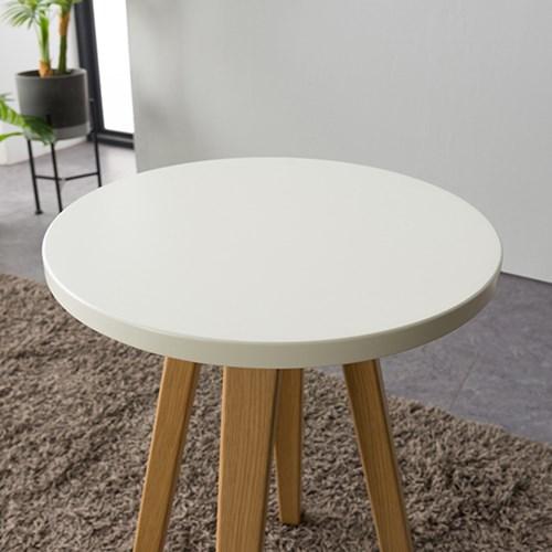 레미 원목 라운드 테이블 (부부테이블)