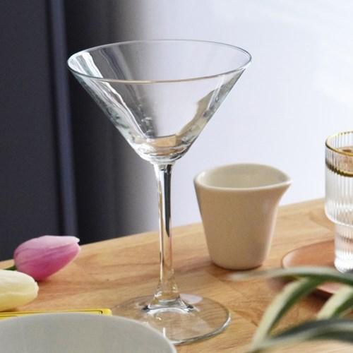클래식 마티니 칵테일잔 220ml 샴페인 와인 파티 유리잔