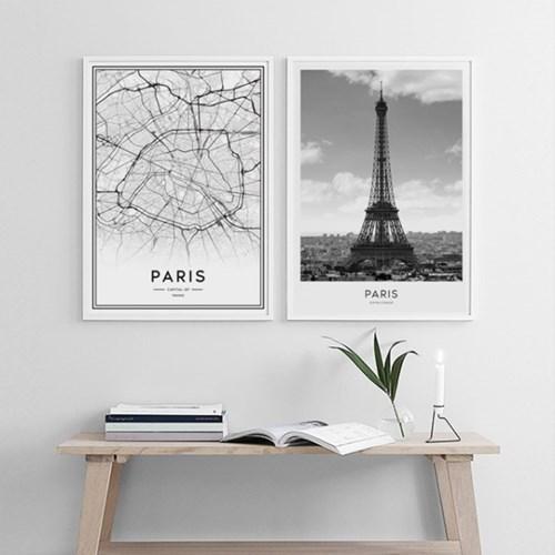 파리 지도 인테리어 그림 포스터