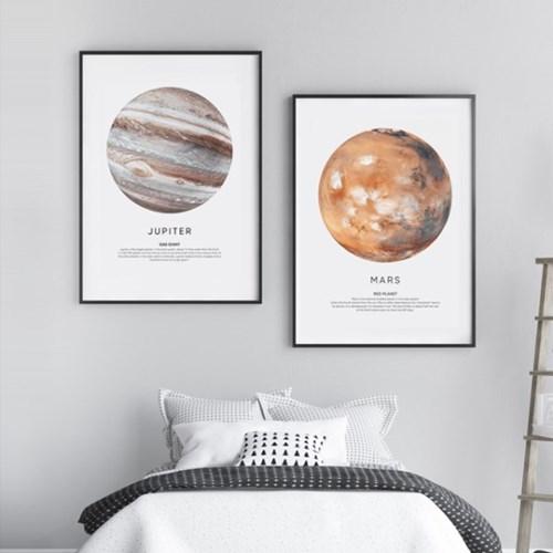 달 액자 인테리어 그림 지구 화성 목성 포스터