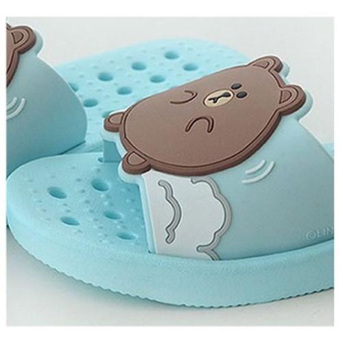 라인프렌즈 아동 입체 욕실화(브라운)new 2575
