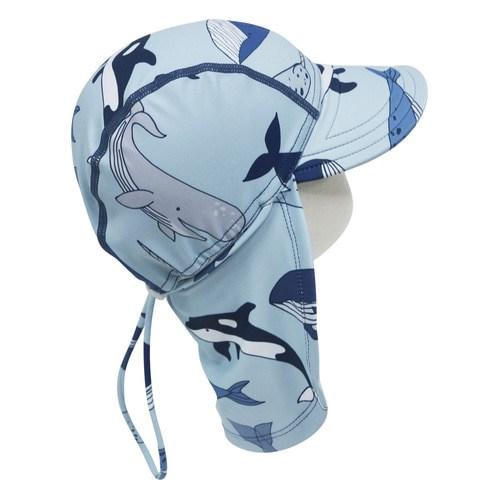 앨리빌리 고래 플랩캡(수영모자 UV차단)