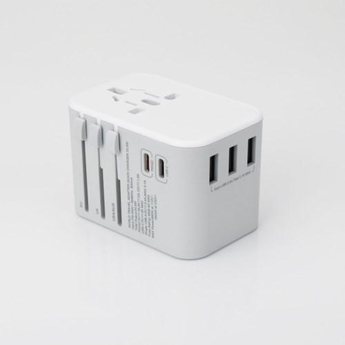 아이넷 JY307 고급형 해외용 멀티아답터 노트북PD/QC3.0지원