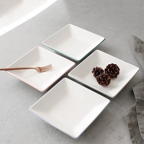 meresine 마인드터치 정사각 접시(중) - 4color