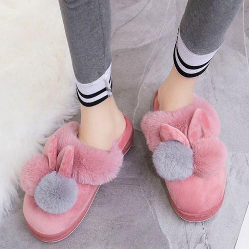 kami et muse use Drop top tall up fur slippers_KM19w153