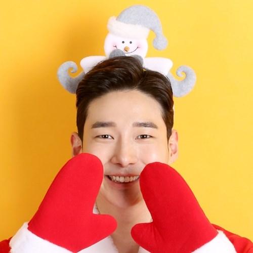 크리스마스 유러피안 머리띠 (눈사람)