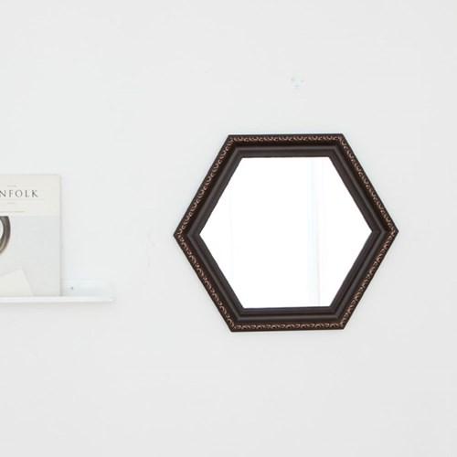 육각 409브라운 벽거울