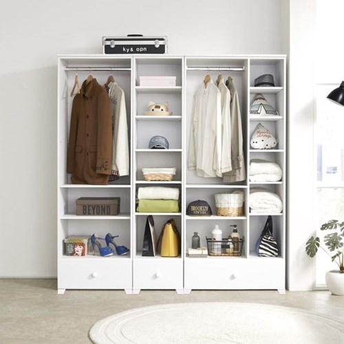 옵티마 파비앙 드레스룸 400 오픈형 시스템 옷장_(13725049)