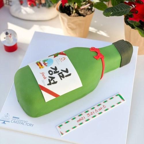 크리스마스 이슬 소주 케이크