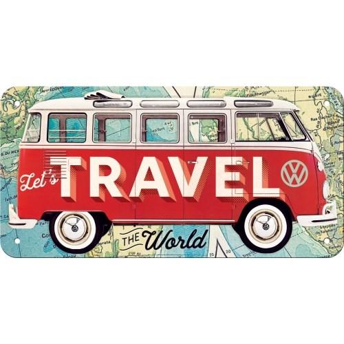노스텔직아트[28035] VW Bulli - Let's Travel The World