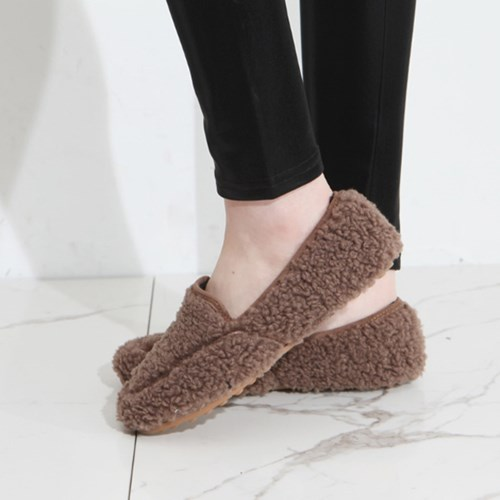 kami et muse Soft boa fur loafers_KM19w199