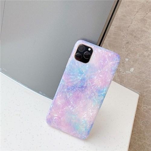 블루 퍼플 자개 아이폰12 프로 맥스 미니 케이스