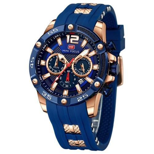 미니포커스 남성 크로노 실리콘 손목시계 MF0349G02