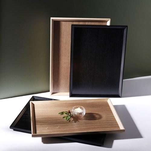 나무 원목 쟁반 사각 육각 카페 우드 트레이