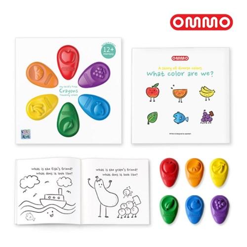 [OMMO] 옴모베이비크레용 6색+옴모스케치북 7SET