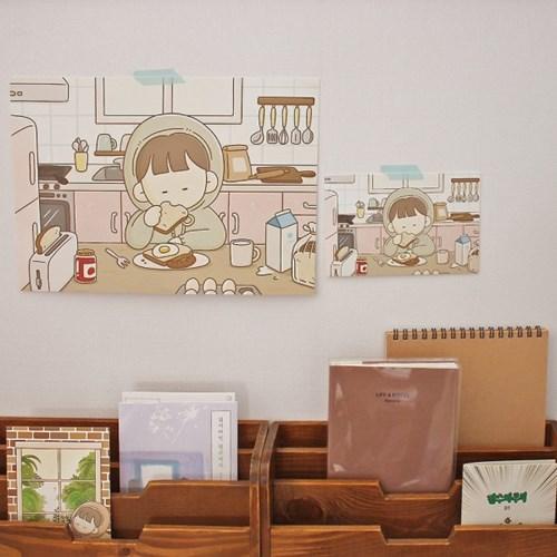 팔베개 일러스트 포스터 4종 (A4)