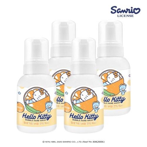 [HELLO KITTY]헬로키티 버블 핸드워시 300ml * 4개 (딸기/오렌지)