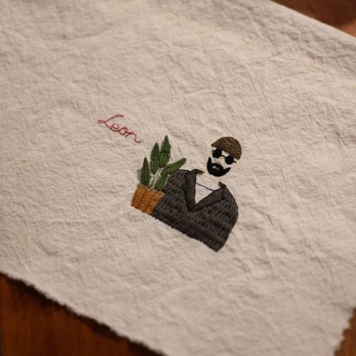 감성 프랑스자수-영화 레옹 입체자수 포스터/액자 DIY KIT