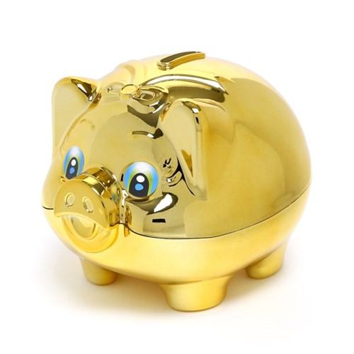 큐티 골드 돼지저금통(올금장) (대) / 잔돈저금통