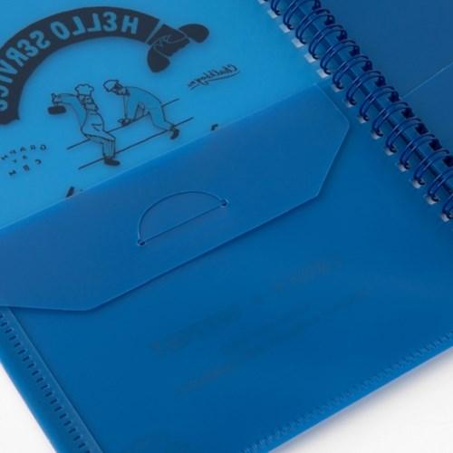 [Greetinglife] CHALKBOY_CLEAR FILE BOOK_A5_블루