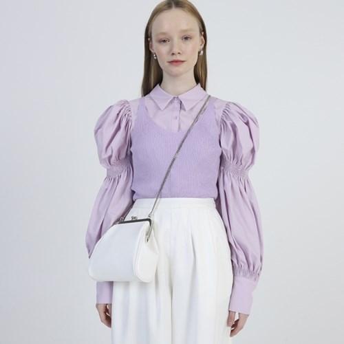 Olsen frame mini bag_White