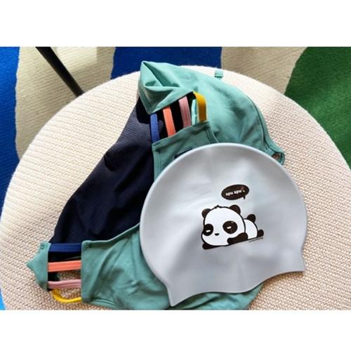 팬더 수영모자 Panda Swimcap Silver