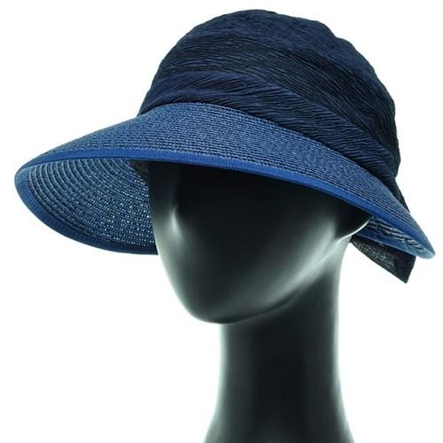 [플릭앤플록]ICP09.씨스루 배색 밀짚 여성 모자 챙모자