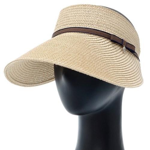 [플릭앤플록]ICP01.리본끈 밀짚 돌돌이 썬캡 여성 모자