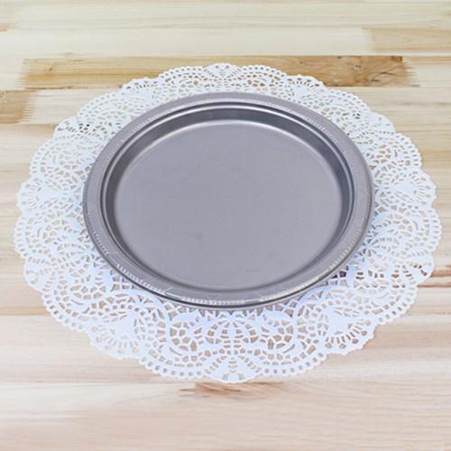파티용 칼라 접시18cm-라벤더(10개입)