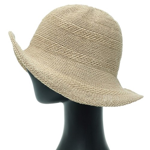 [플릭앤플록]IKK02.지사 손뜨개 베이직 여성 벙거지 모자