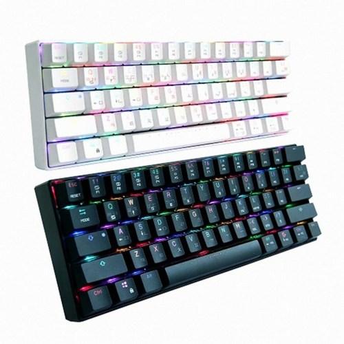 마이크로닉스 블루투스 기계식 키보드 MANIC K61 카일박스 적축 백축