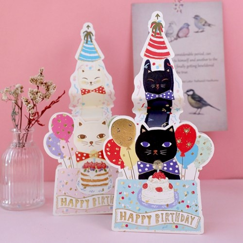 디원 검은고양이 팝업카드 (YD30)