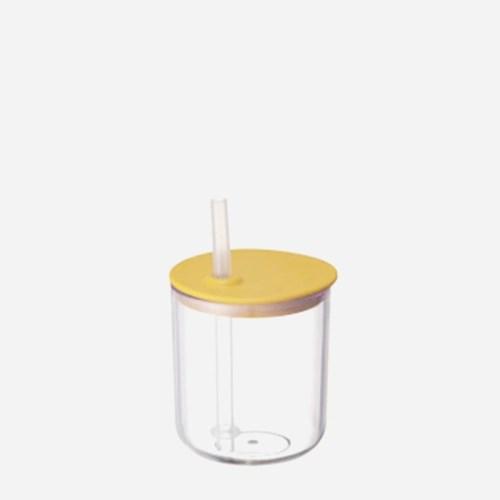 킨토 본보 스트로우 컵 200mm - 옐로우_(1541558)