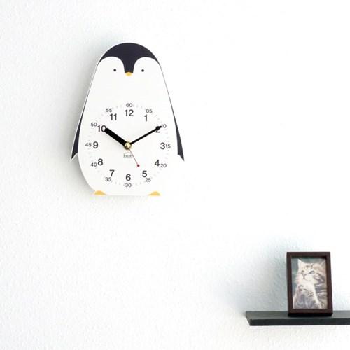 [BEZIT] 아이방 인테리어 교육용 무소음 탁상시계-북극곰,펭귄,토끼