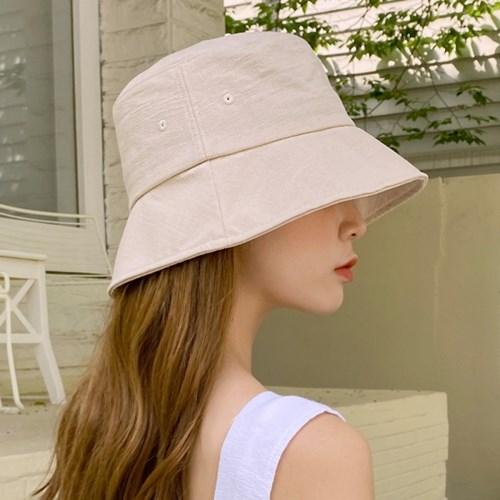 짧은챙 벙거지모자 여름 여성 버킷햇 모자