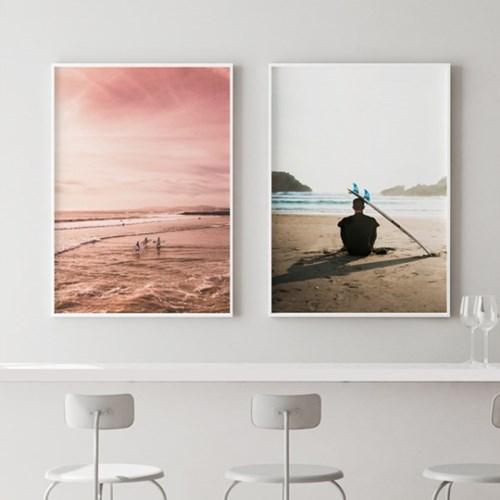서퍼앤보드 바다 그림 액자 인테리어 포스터