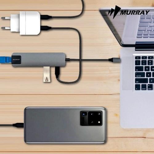머레이 C타입 멀티포트 허브 4 IN 1 LAN USB 3.0 HUB C-MULTI