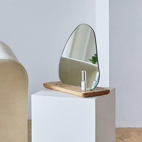 토피넛 원목 스탠드 거울 탁상 화장대 테이블 인테리어_(1343370)