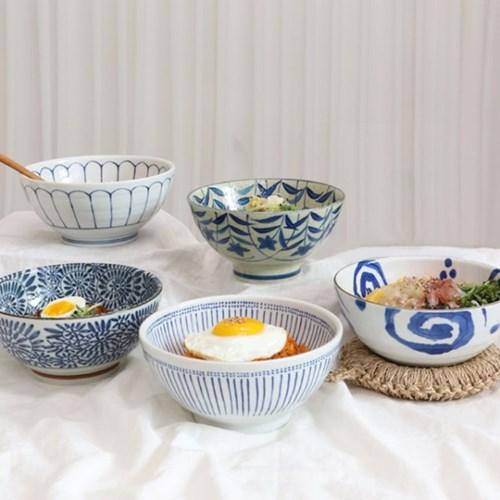 일본 그릇 면기 라면 그릇