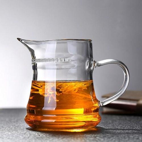 [로하티]브라이트 거름망 유리 물컵(320ml)