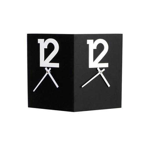 우드 모던 12포인트 양면 저소음 벽시계-3색상 옵션
