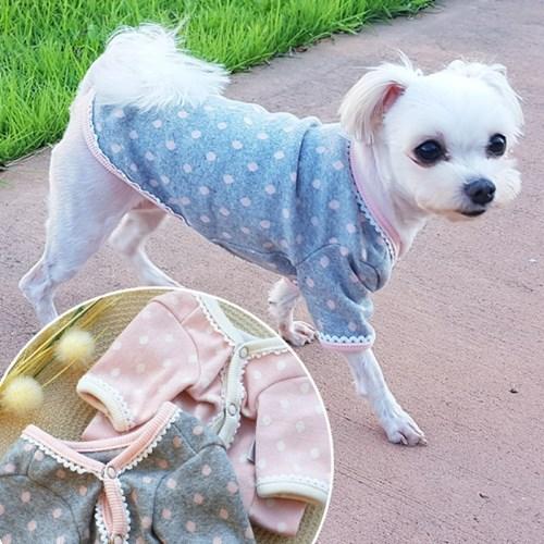 앙쥬가디건 셔링가디건 신축성 좋은 강아지옷 애견옷